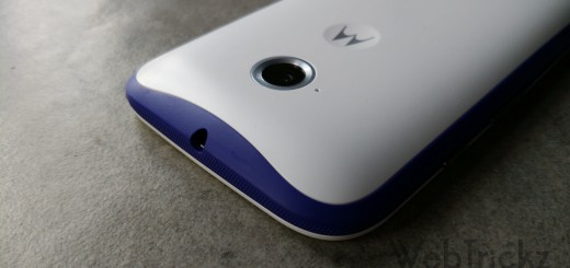 Purple Band on White Moto E 2015
