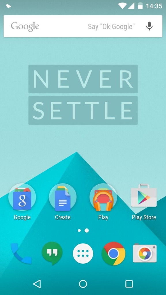 Oxygen OS HomeScreen