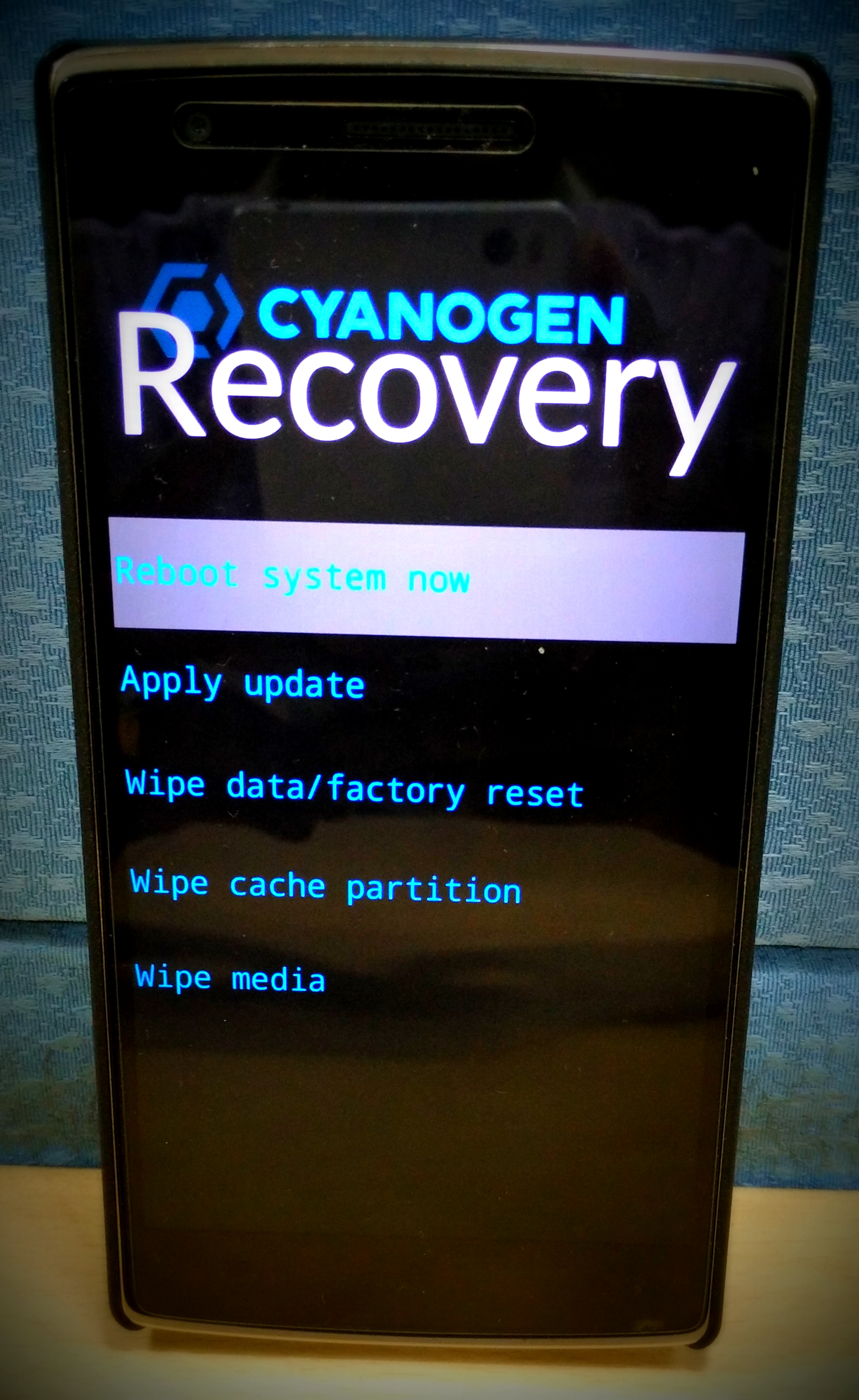 2 Reboot Into Stock Recovery €� Press And Hold The Power+volume Down Rocker  And Release Once You See The Oneplus Logo