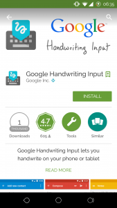 Google Play Store - Handwriting 1
