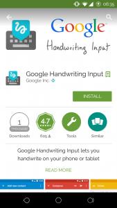 Google Play Store - Handwriting 1