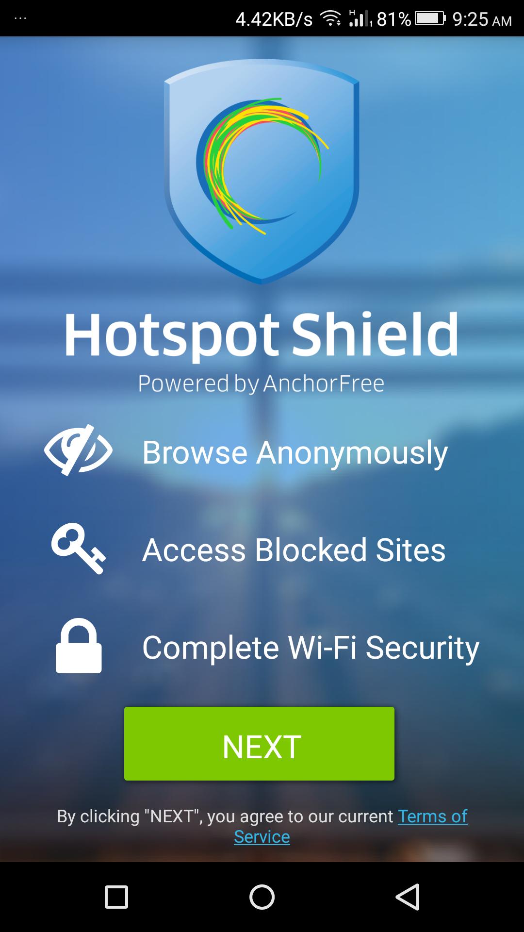دانلود hotspot shield برای اندروید 4