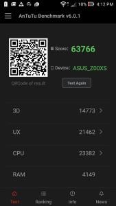 Antutu benchmark score_Zenfone Zoom