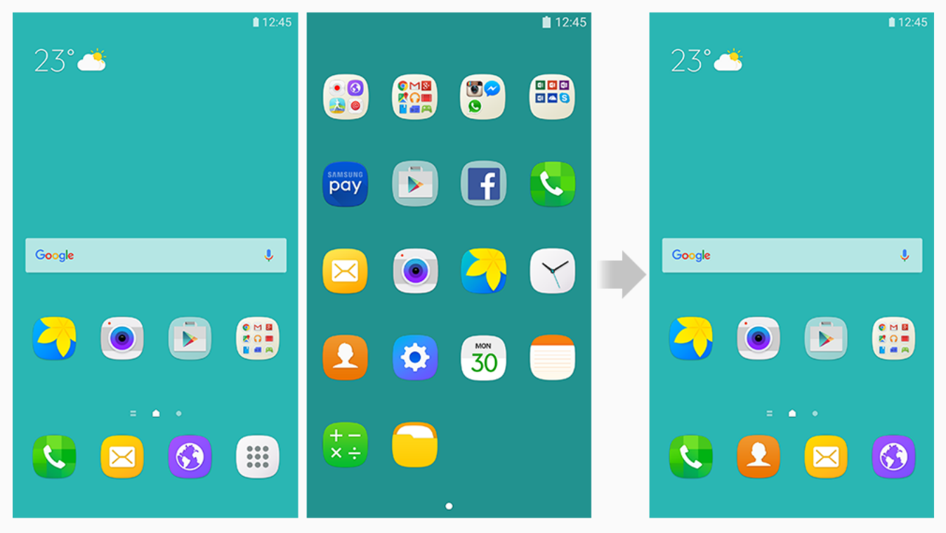 how to disable app drawer on samsung galaxy s7 amp s7 edge