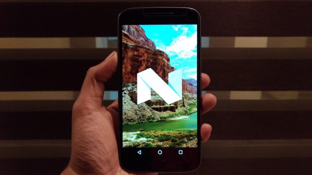 Moto G4 Plus running Android 7.0 Nougat