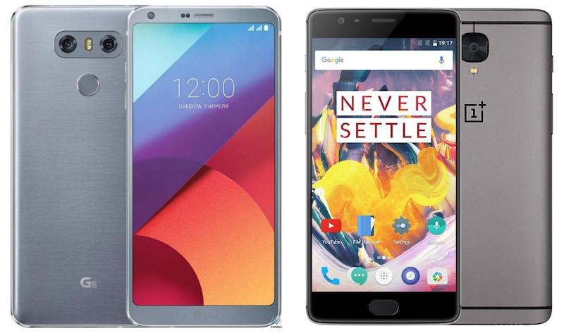 LG G6 vs OnePlus 3T