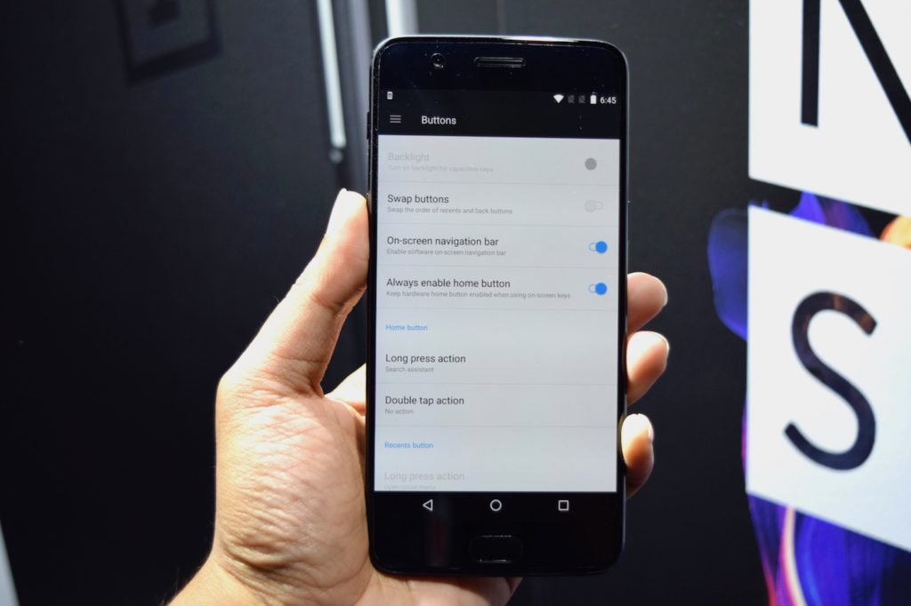 OnePlus 5 settings