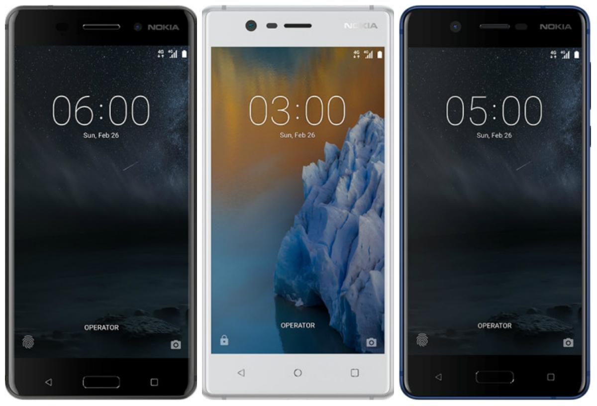 Nokia 6, Nokia 3, and Nokia 5