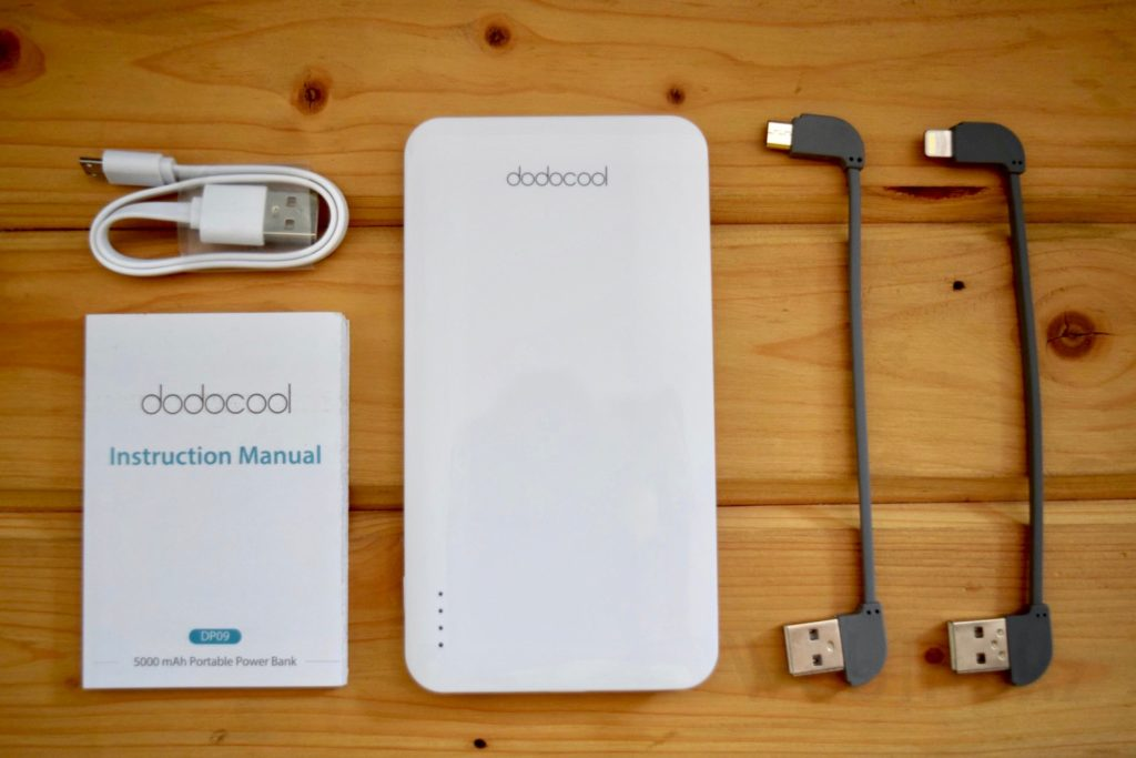 dodocool 5000mAh powerbank contents