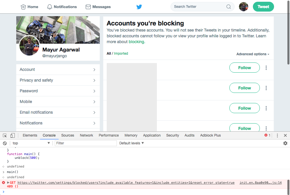 How To Unblock All Blocked Twitter Accounts At Once