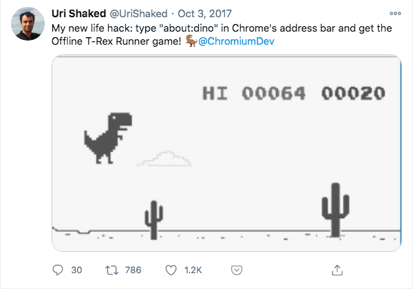 play dino game in chrome