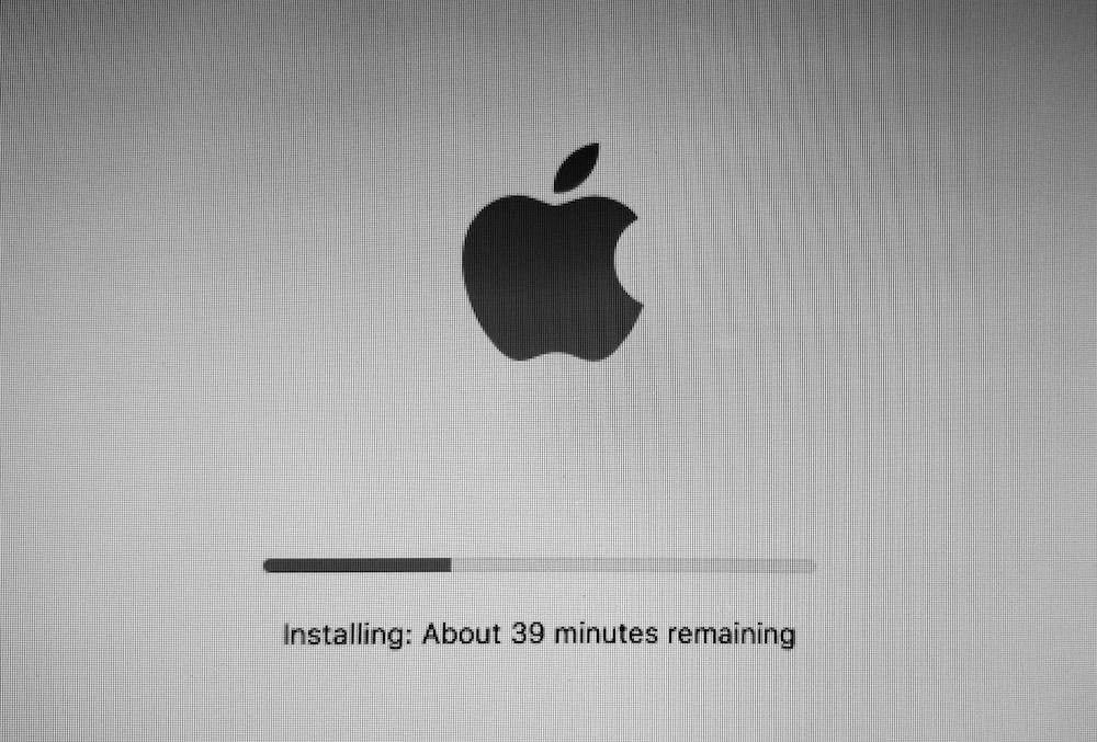 macOS high sierra installation process
