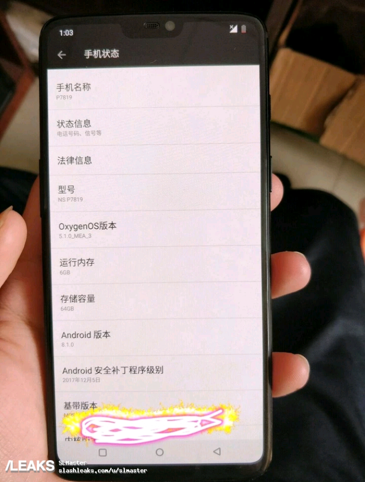 oneplus 6 notch design