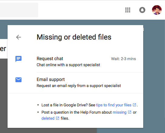 Google drive customer support