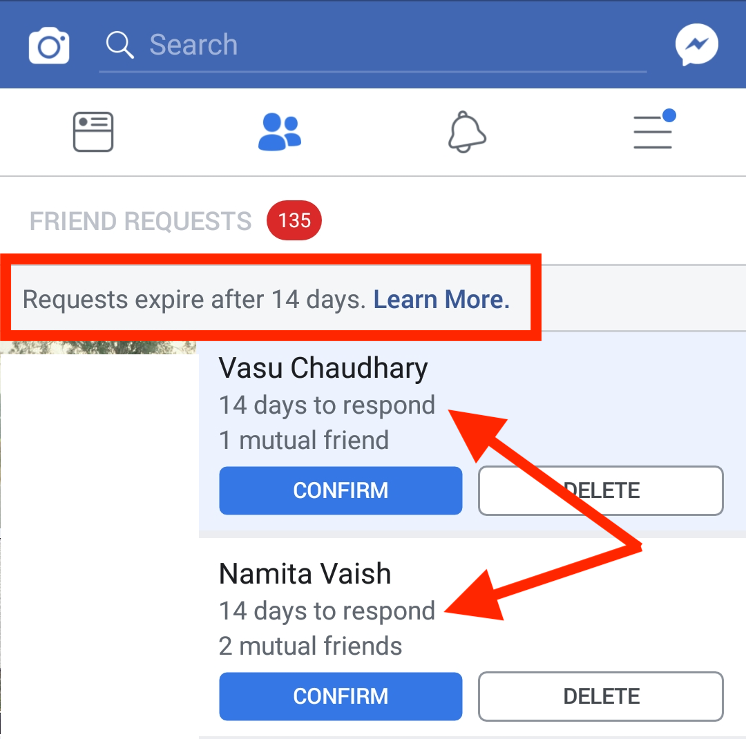 facebook friend requests expiry time 14 days