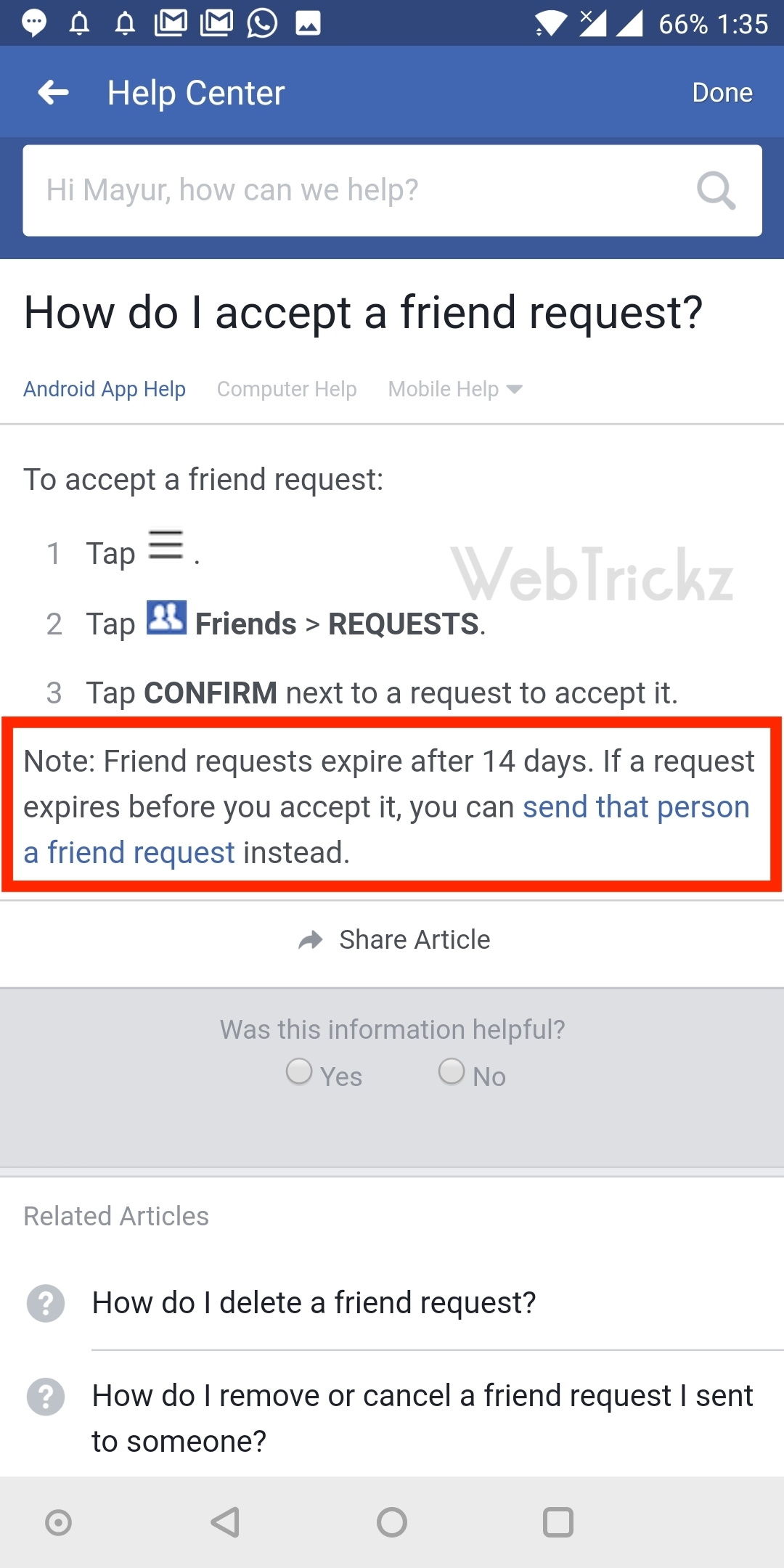 how to send facebook friend request after deleting it