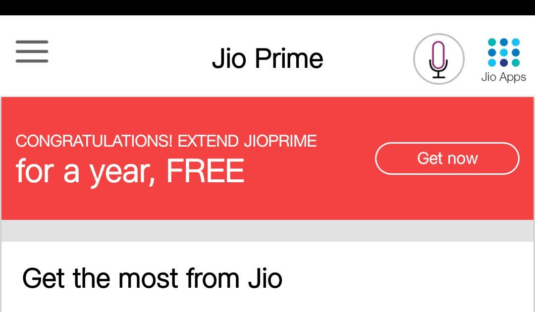 extend jio prime membership by one year