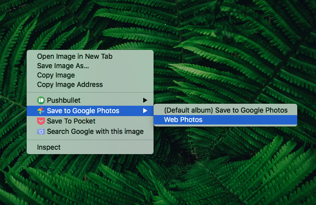 save to google photos chrome extension