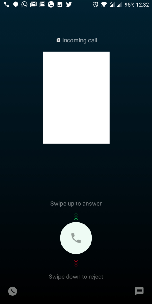 incoming call on oneplus