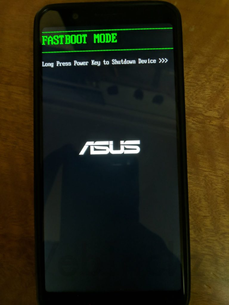 Zenfone Max Pro M1 Fastboot mode