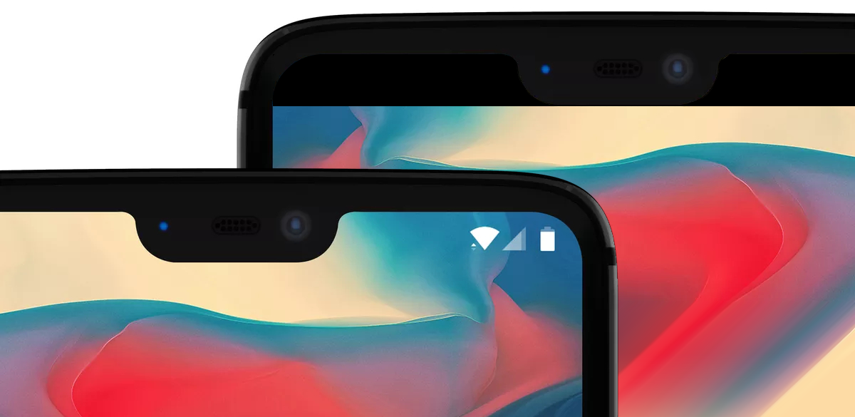 hide notch on oneplus 6