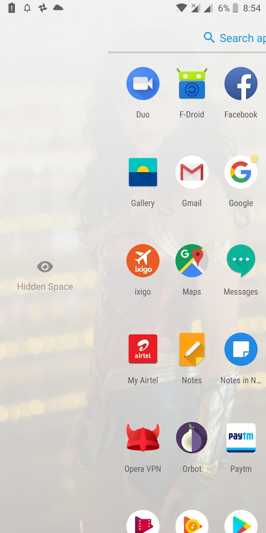 OnePlus Launcher Adds the ability to Hide Apps from the App