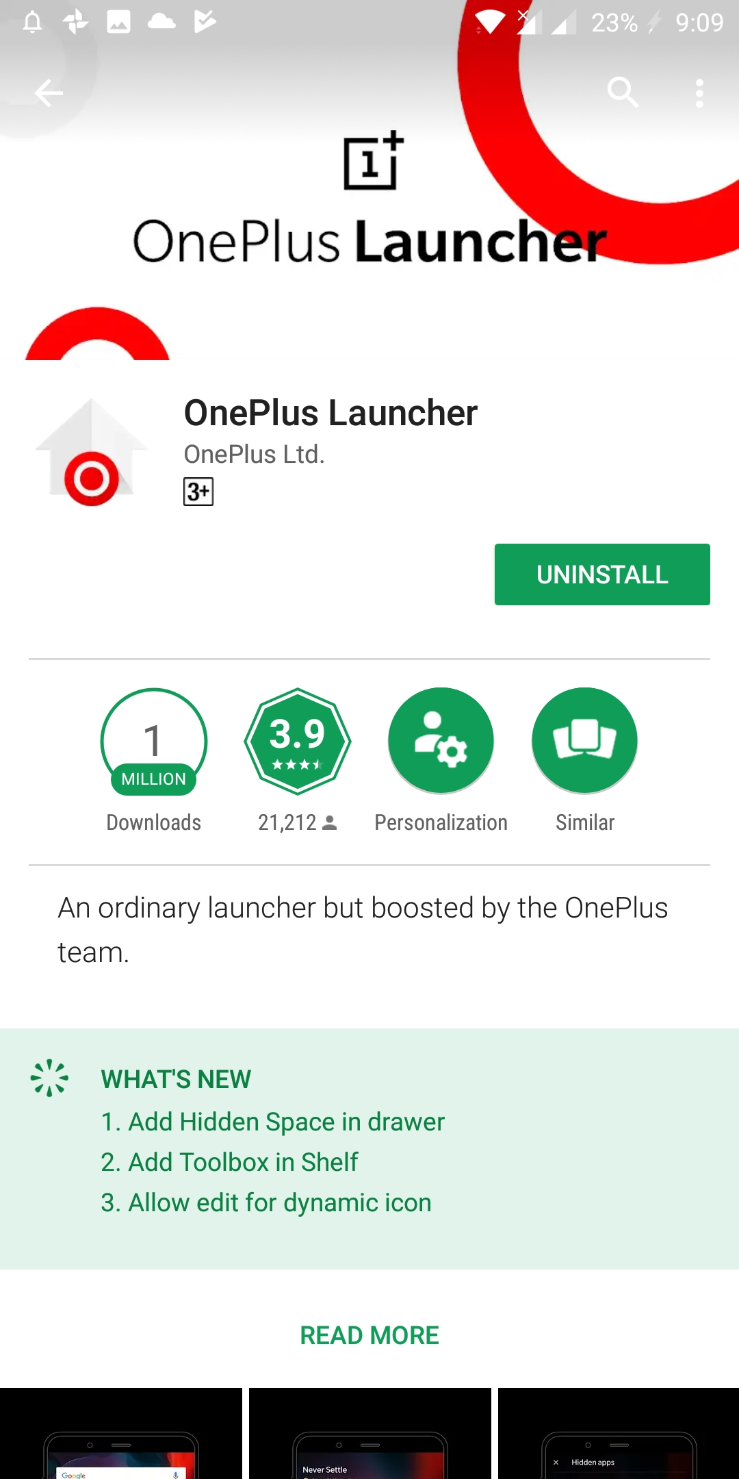 OnePlus Launcher Adds the ability to Hide Apps from the App Drawer