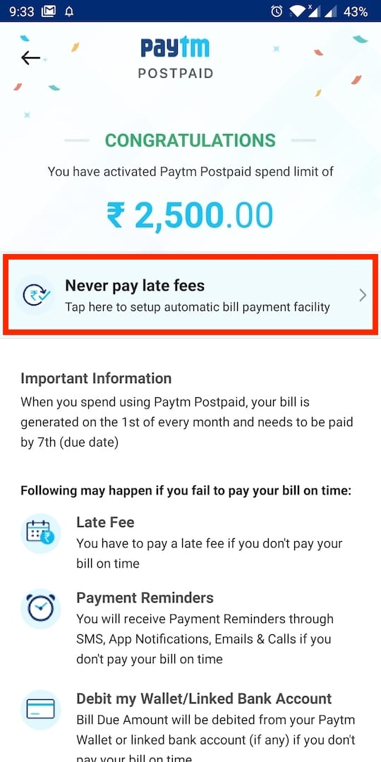 How to Use Paytm Postpaid Amount