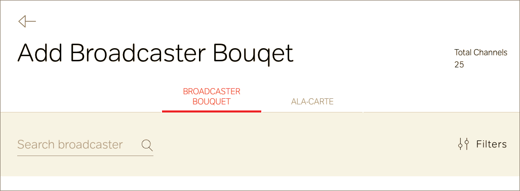 add broadcaster bouquet in airtel dth