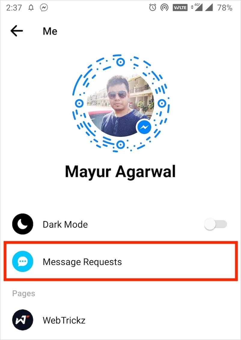 see message requests in messenger 2020 on android