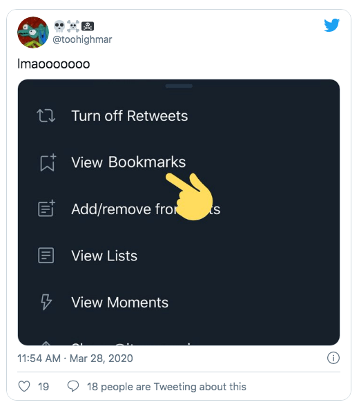 are twitter bookmarks public
