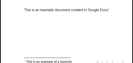 Example of a Footnote