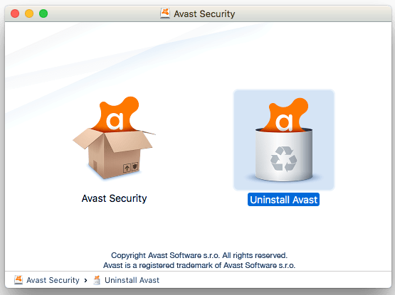uninstaller to uninstall avast security on mac os