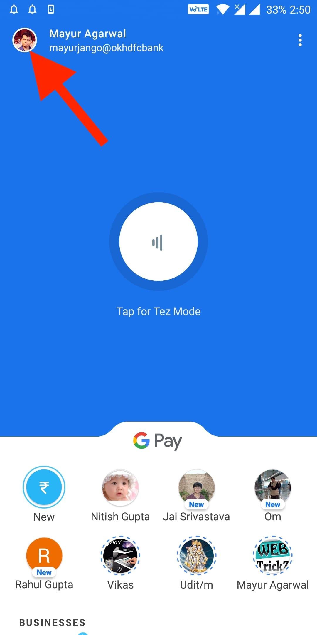 Google Pay Pin