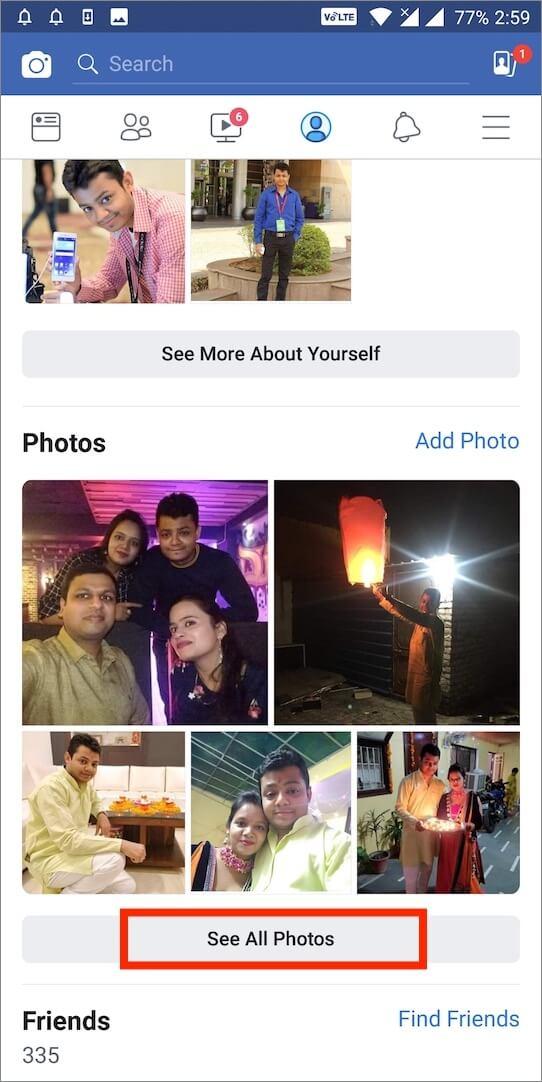 see all photos on facebook app
