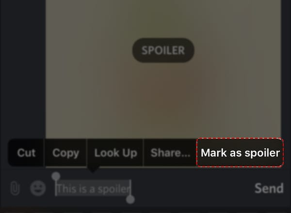 how to add spoiler tag in discord on iphone