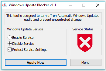 disable win 10 updates permanently