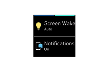 screen wake fitbit versa