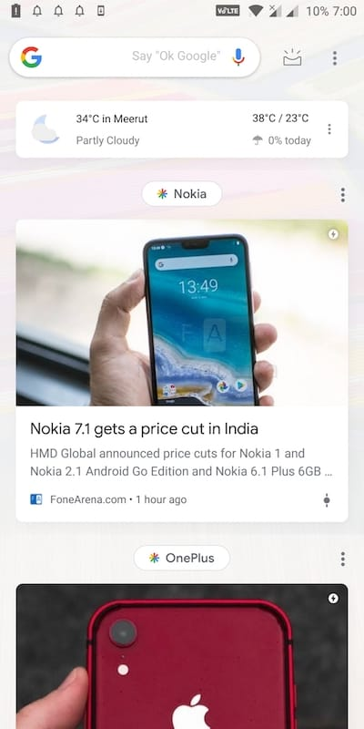 google discover light theme