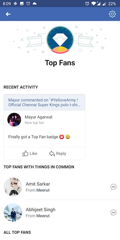 become top fan on facebook