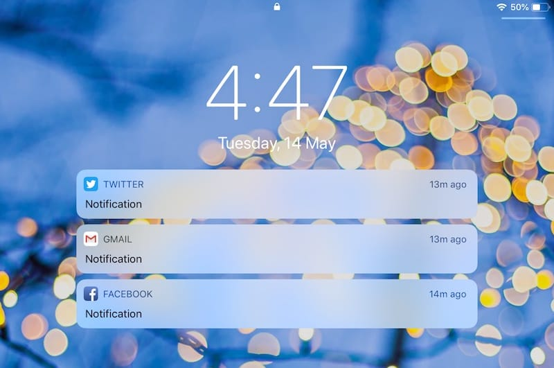 ios lockscreen notifications