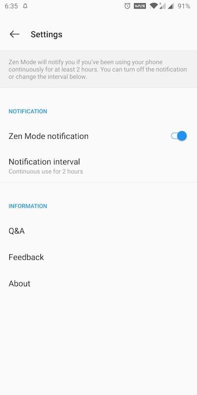 zen mode notification