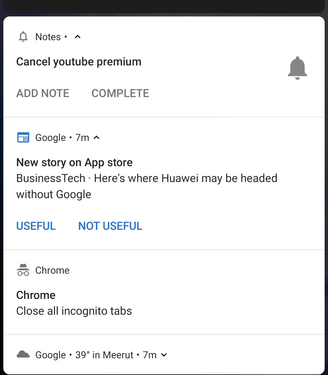 turn off google news story notifications