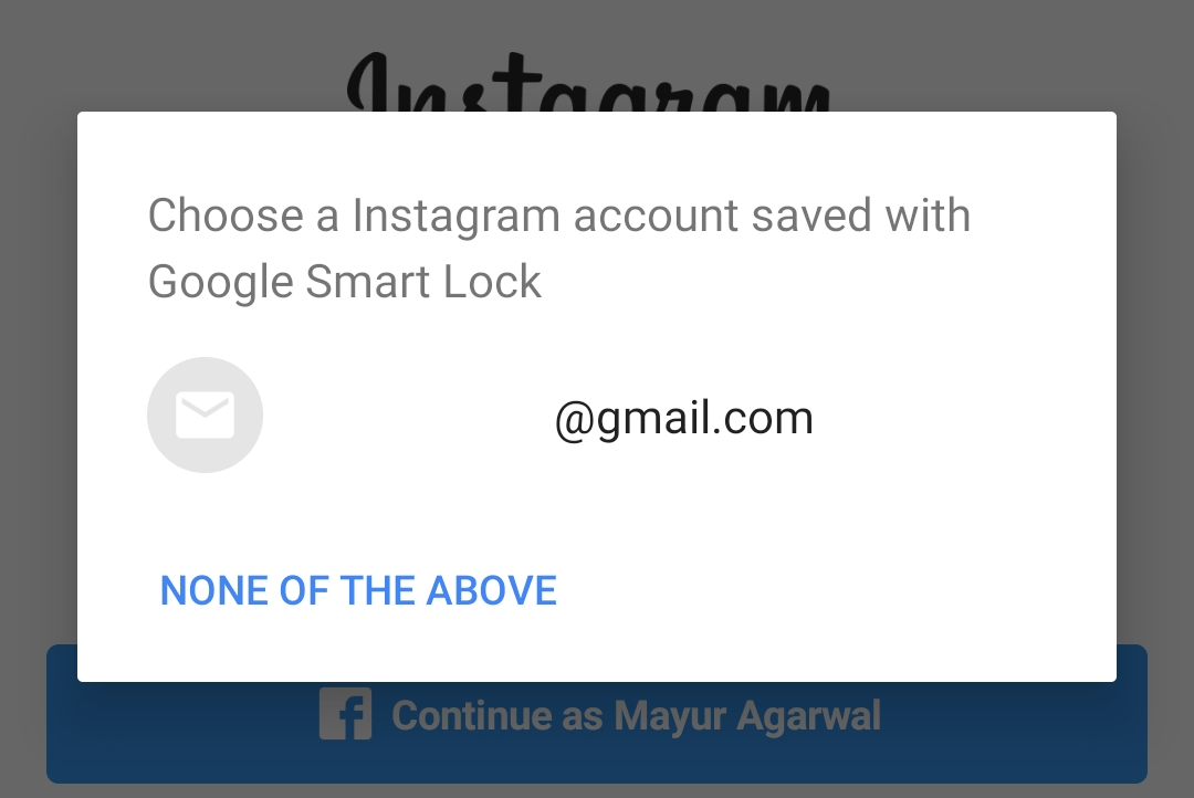 remove google smart lock instagram