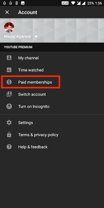 youtube paid memberships