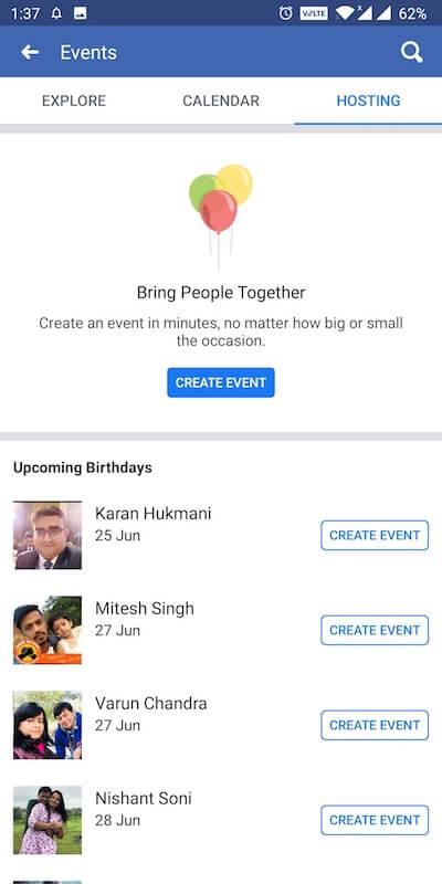 hosting on facebook