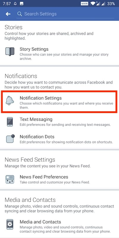 How to Turn off Story Notifications on Facebook for Android