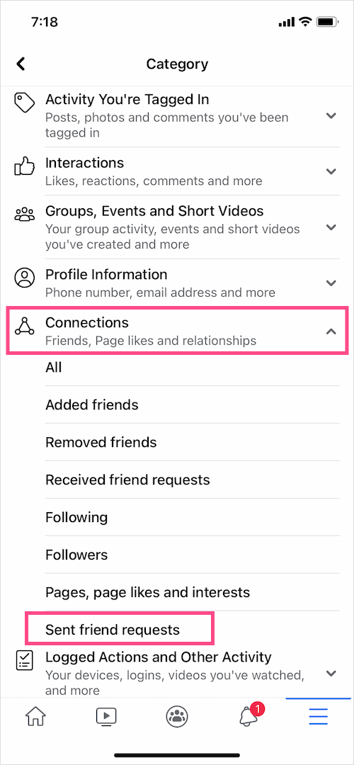how to check outgoing friend requests on Facebook app 2021