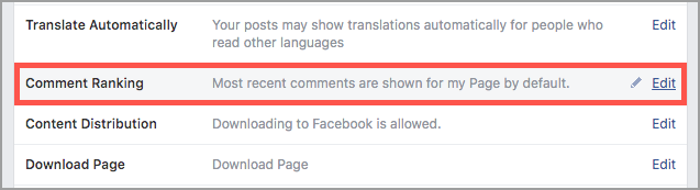 comment ranking facebook