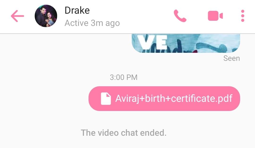 send files in messenger app